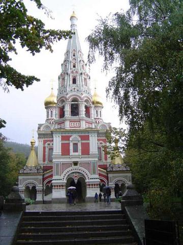 Die Kirche in der Stadt Shipka